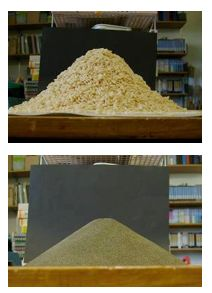 STUDENT ACTIVITY - Making a model cinder cone –   In this activity, students make a simple model of a cinder cone by pouring a granular material such as rice bubbles into a conical pile and measuring its slope. This is then related to the shape and formation of cinder cone volcanoes.
