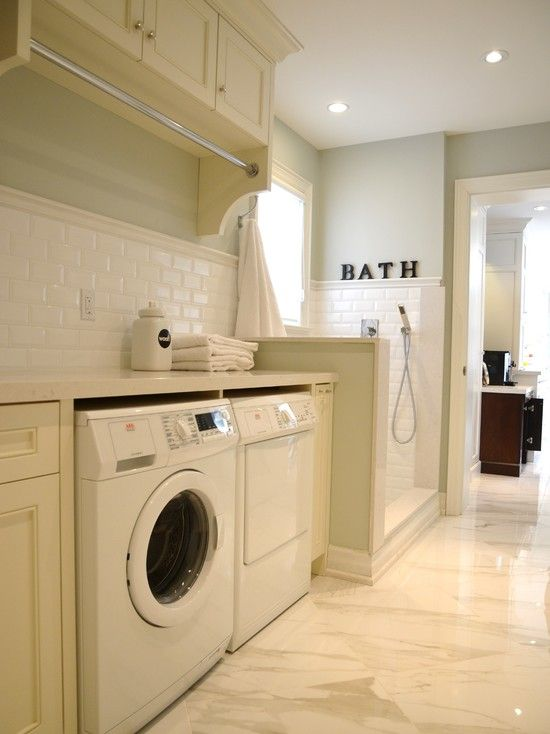 25 best images on pinterest dog shower laundry dog bath design traditional laundry room combine with dog shower also modern shower head design also white tiling and white laundry cabinet and white hi solutioingenieria Image collections