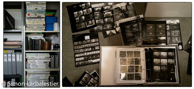 Details from my archive print boxes and negative/contact sheet files © Simon Larbalestier