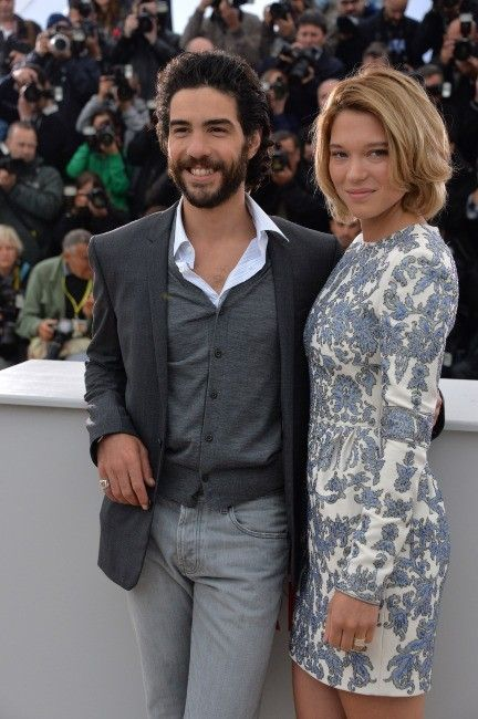 Léa Seydoux and Tahar Rahim at the 2013 Cannes Film Festival.