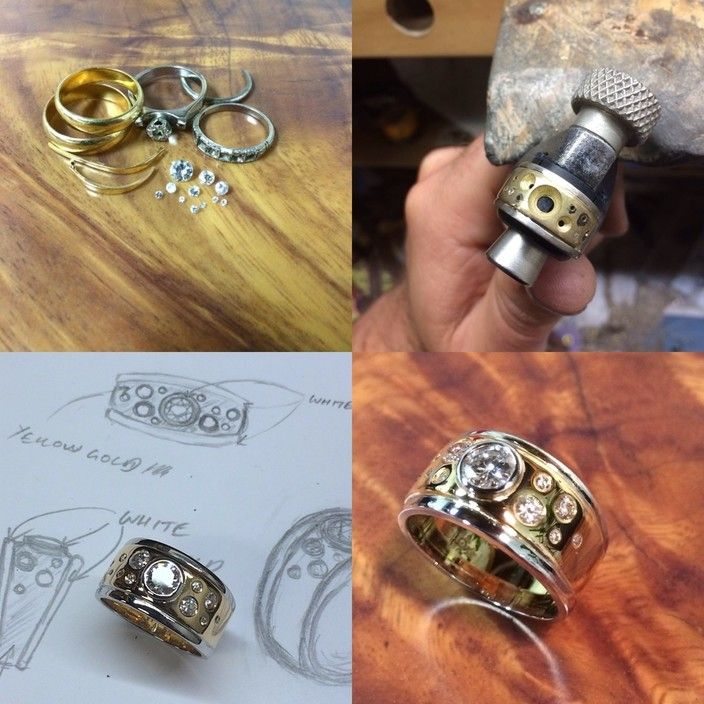 Process of remodeling and recycling customers old and or broken jewellery - Orion Joel Custom Jewellery, JewelleryWatchRetailers, Kensington, VIC, 3031 - TrueLocal