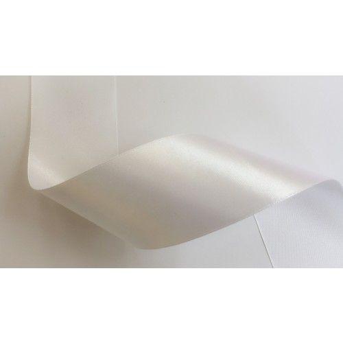 Szatén szalag 5cm - Fehér