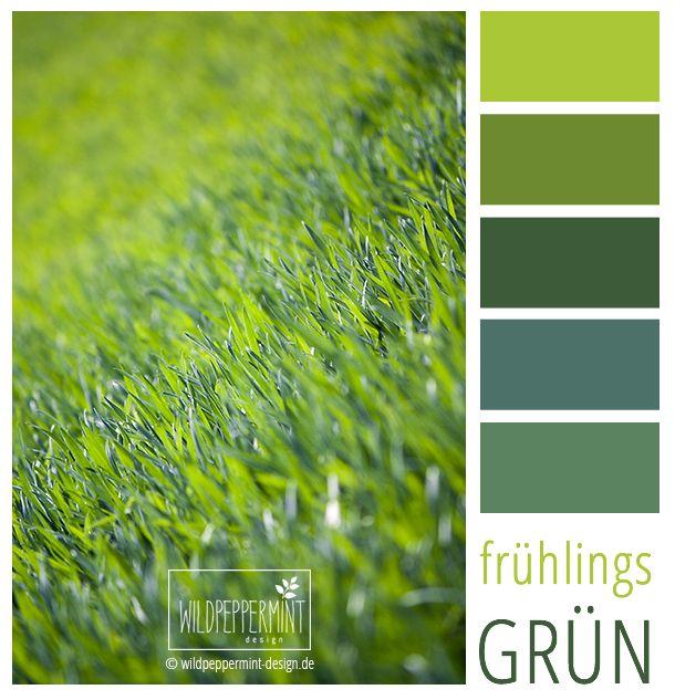 Farbpalette, frisch grüne Farbinspiration, #Frühling #Grün #Grüntöne / © wildpeppermint-design.de