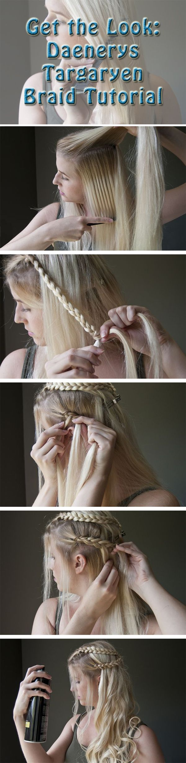 Get Games of Thrones Deanerys Targaryen's iconic braids down for your Halloween costume.