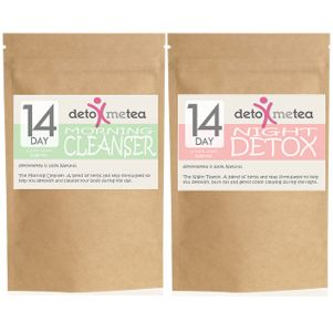 "BODY CLEANSER PACK - 14 DAY DETOX TEA PROGRAM ( 2 PACKS ) + a ""FREE"" SILICONE LEMON SHAPE TEA STRAINER VALUED AT US$5"