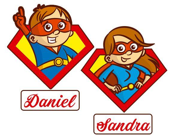 Pegatinas personalizadas para coche Superhéroe a bordo