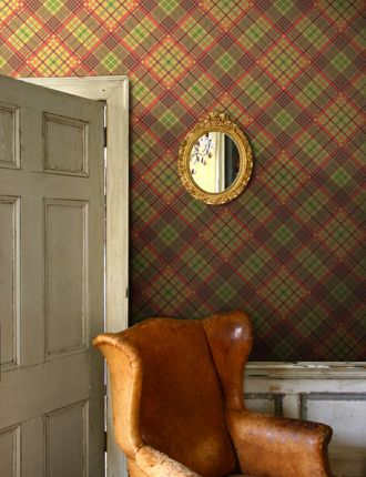 Vivienne Westwood Tartan wallpaper... English Countryside chic!  available at walnut wallpaper #wallpaper