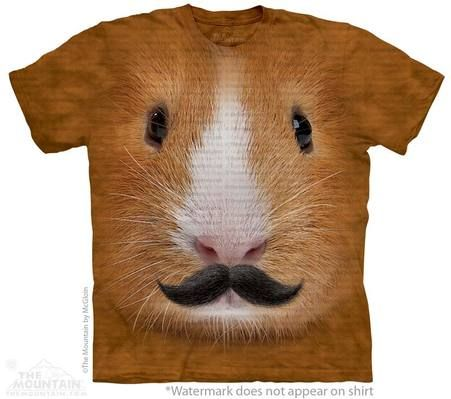 Guinea Pig with Mustache T-Shirt - 30% DISCOUNT ON ALL ITEMS - USE CODE: CYBER  #Cybermonday #cyber #discount