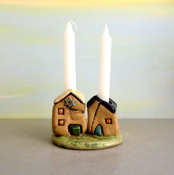 Candle stick holder  Shabbat Candle holders  Romantic by ednapio