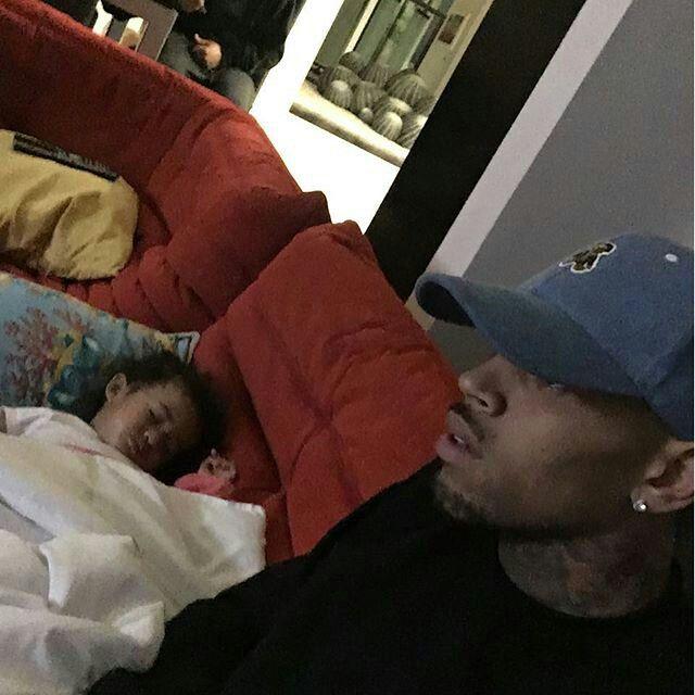 Chris Brown and daughter