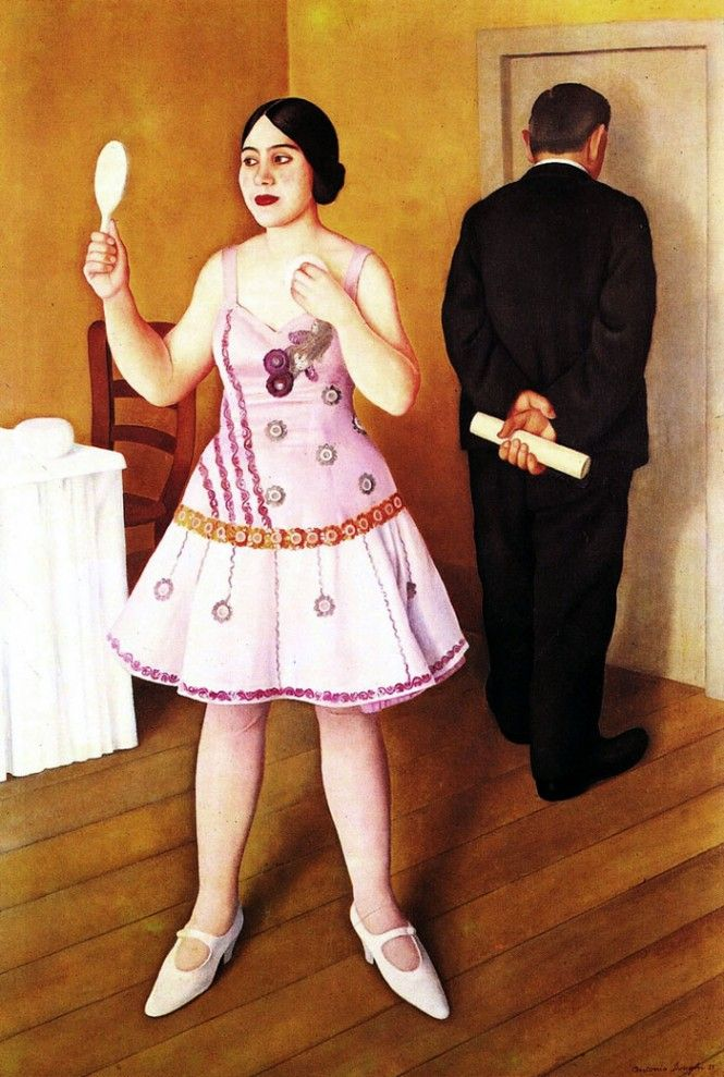 The Folk Singer by Antonio Donghi, 1926