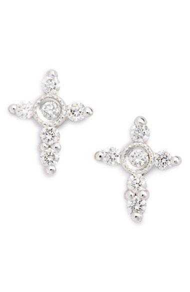 Bony Levy Diamond Cross Earrings