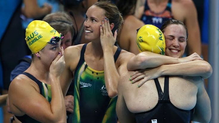 GOLD MEDAL: Women's 4 x 100m Freestyle Relay