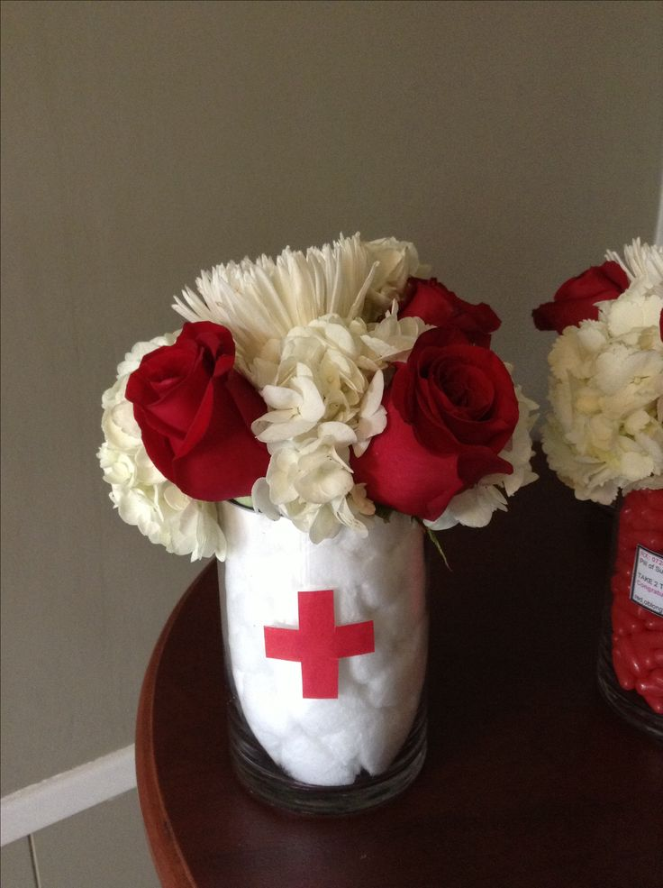 Nurse Theme party centerpieces.