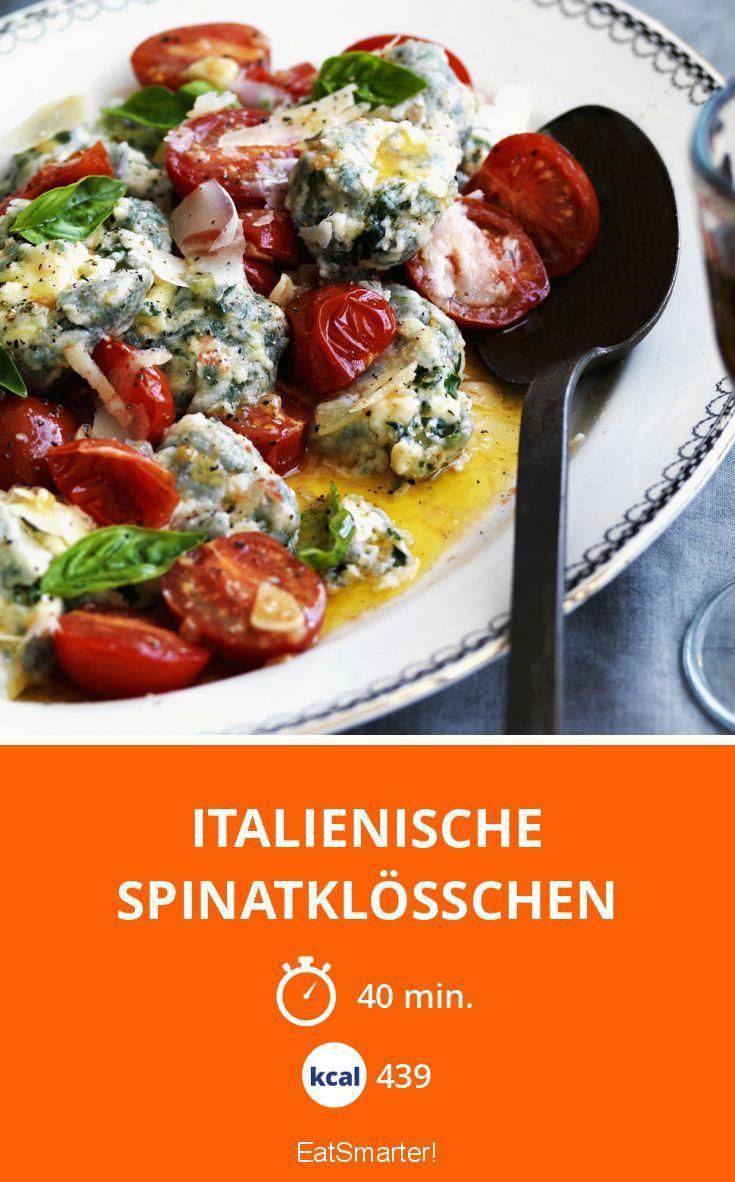 Malfatti selbstgemacht – besser als im Restaurant! So gelingen die Italienischen Spinatklösschen | Kalorien: 439 Kcal - Zeit: 40 Min. | http://eatsmarter.de/rezepte/italienische-spinatkloesschen