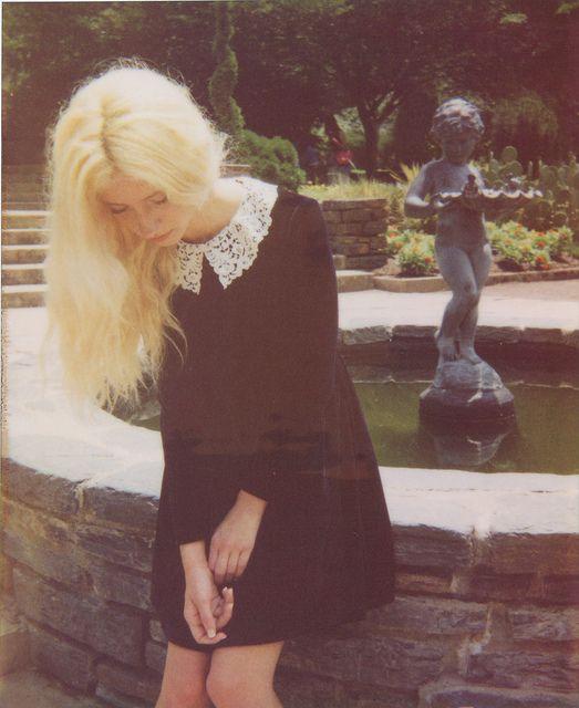 Black dress, white lace collar. My kind of dress.