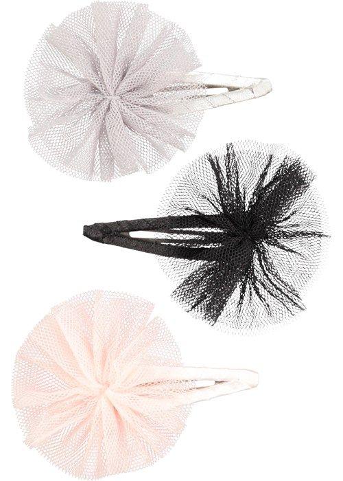 Tull Bow Clips - La La Pink - hårspännen med tyllrosetter