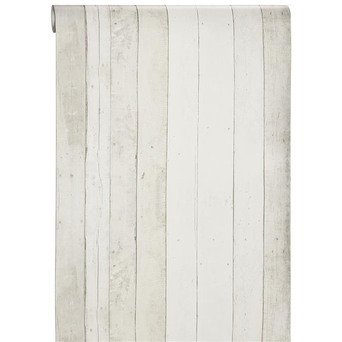 Vliesbehang Guus geeft met zijn houtprint je huis een warme én stoere uitstraling. Kleur: taupe.