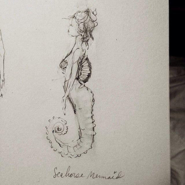 Charmaine Olivia Art, seahorse mermaid