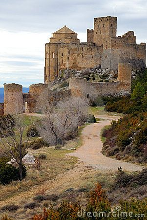 .~Loarre castle, Provincia de Huesca, románico, siglo XI Spain~.