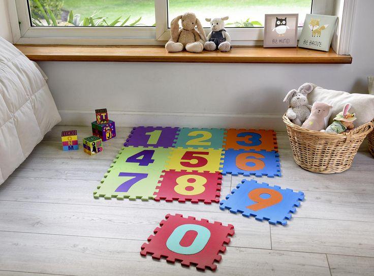 Con esta Alfombra Puzzle Números de 30x30 cm y 10 piezas, marca Just Home Collection, los días de tu hijo pequeño serán mucho más entretenidos.  #Alfombra #Niños #Decoración #Diseño #Sodimac #Homecenter Puzzles Numeros, Kids Rugs, Home Decor, Home, Puzzle Mat, Rugs, Entertaining, Decoration Home, Kid Friendly Rugs