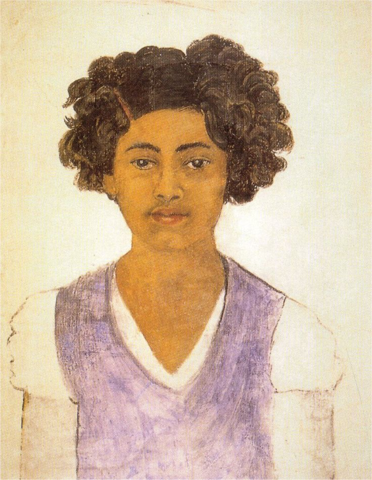 Frida Kahlo - Self-Portrait (1922). LOVE THIS!! The age of innocence before