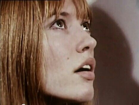 "GILLIAN HILLS - 1969. Film still from ""THE OWL SERVICE"", based on the '67 novel by Alan Garner. Modern take on British folklore loosely based on BLODEUWEDD the ""flowerfaced"" wife of Lleu Llaw Gyffes in Welsh mythology..She was created by Math & Gwydion."