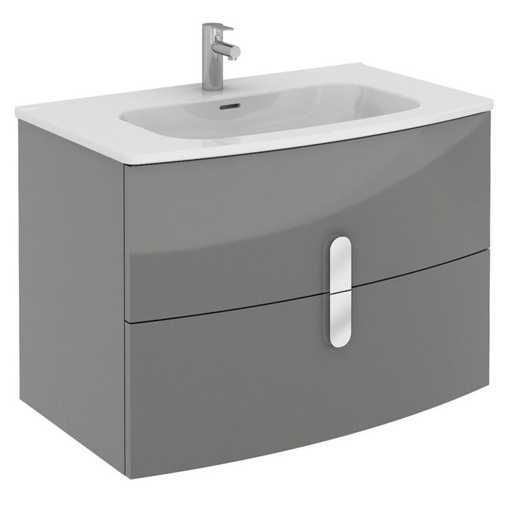 Eviva Cali 31 in. Single Bathroom Vanity Set - EVVN32-31GR-ROUND