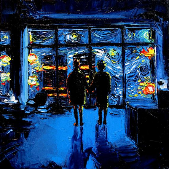 Fight Club Parody Art – Starry Night print van Gogh Never Watched The World Burn by Aja choose size and type of paper