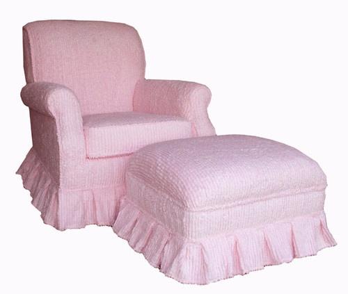 pink stripe chenille upholstered rocker glider nursing chair