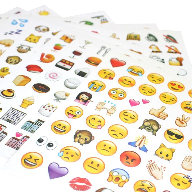 10sheets a lot different  480 classic emoji stickers emoticons  funny cute sticker  for notebook  ipad iphone pc  Popular