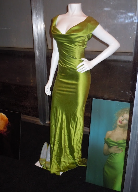 Christina Aguilera's costumes from Burlesque on display...