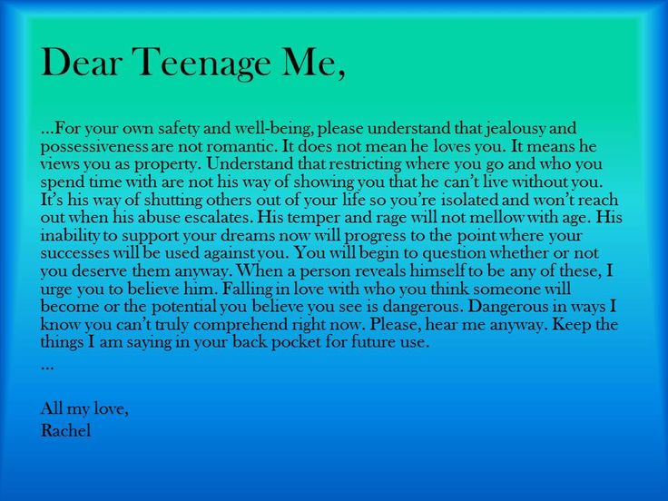 "February is Teen Dating Violence Awareness Month and @seethetriumph has a great series entitled 'Dear Teenage Me...' This is one is entitled ""There are things you don't know."""