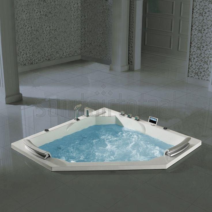 Leisteen Badkamertegels ~   badkamer, badkamer inspiratie, badkamer ideeen, whirlpool badkamer