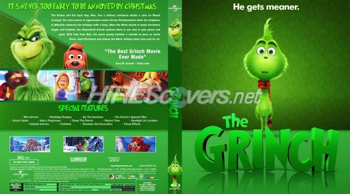 The Grinch Custom Blu Ray Cover Custom Dvd The Grinch Movie Custom Artwork