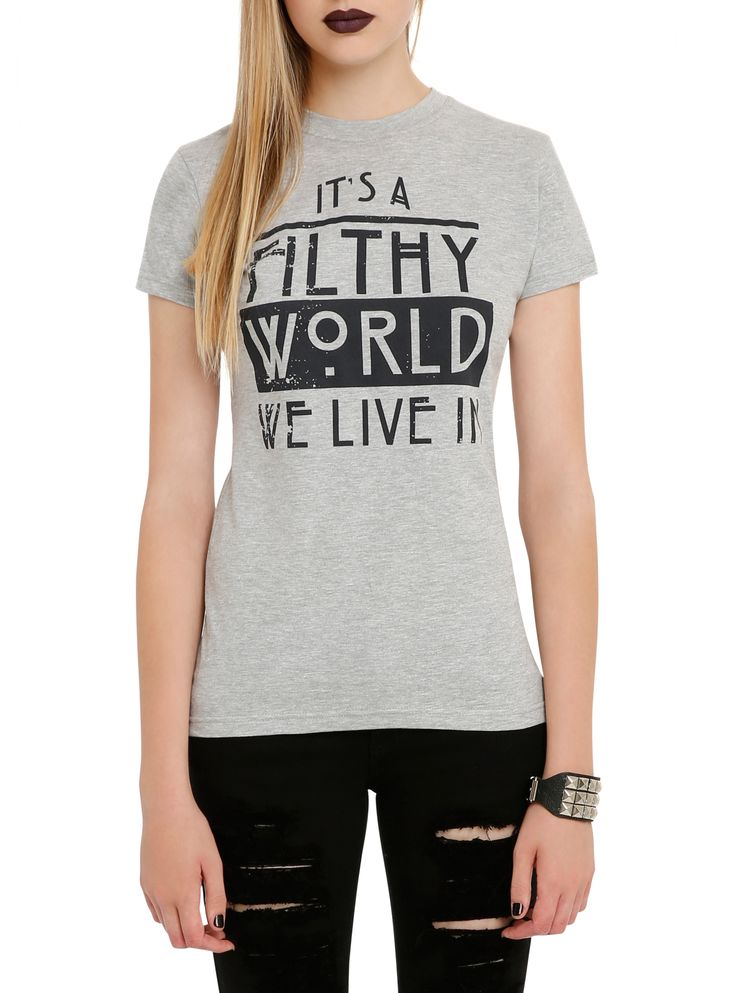 American Horror Story Filthy World We Live In Girls T-Shirt | Hot Topic