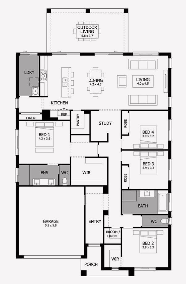 16 House Floor Plan Design Software Free Single Storey House Plans House Floor Plans Four Bedroom House Plans