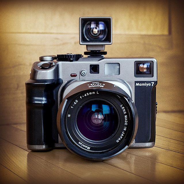 Mamiya 7 rangefinder 6by7cm with 43mm wide angle lens