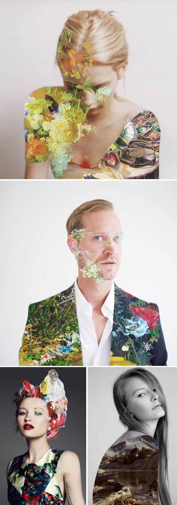 As colagens do web developer Matt Wisniewski, em fusões entre fotografia, ilustração e moda.