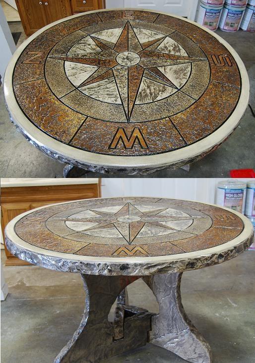 Great Looking Concrete Table Decorative Concrete Pinterest Tables