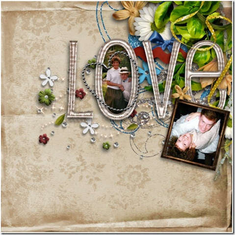 """Pretty """"Love"""" page so perfect for a couples photo or even a family photo!"""