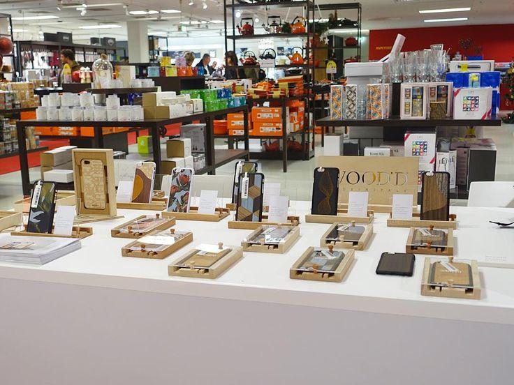 Christmas Wood'd display at @breuninger Stuttgart! #Woodd #Breuninger #wooddretailersupdate #Fashion #Store #Retail