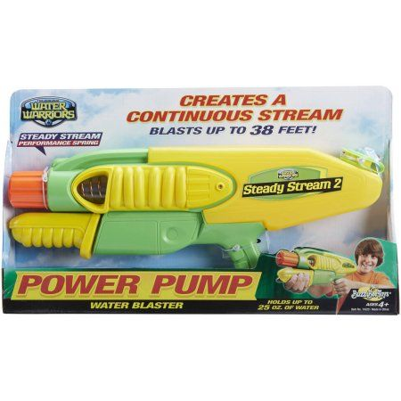 Buzz Bee Toys Water Warriors Steady Stream Water Blaster, Multicolor