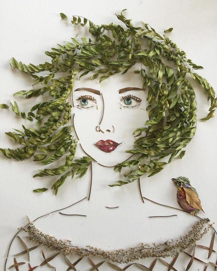портрет из листьев картинки давно встречал столь
