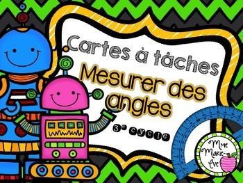 Cartes à tâches - Angles Angles Task Cards