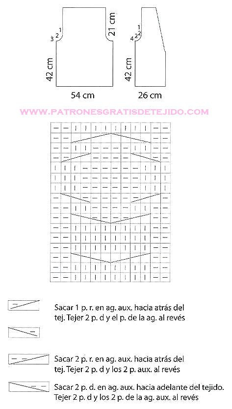 61 best a dos agujas images on Pinterest | Knits, Knitting stitches ...