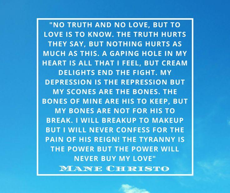 manechristo: No truth and No love