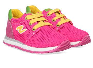 Roze Naturino kinderschoenen Wall sneakers