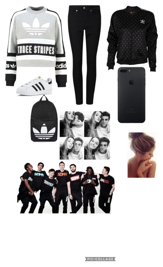 """""""Valentine's Day with Harry and the rest of the sidemen"""" by sidemen ❤ liked on Polyvore featuring adidas Originals, adidas and Topshop"""