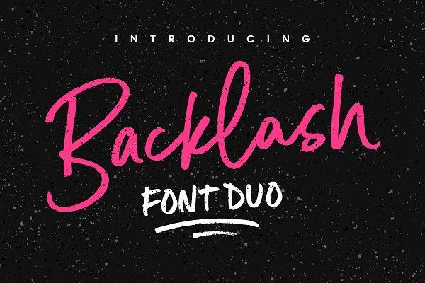 Backlash Font Duo - Script